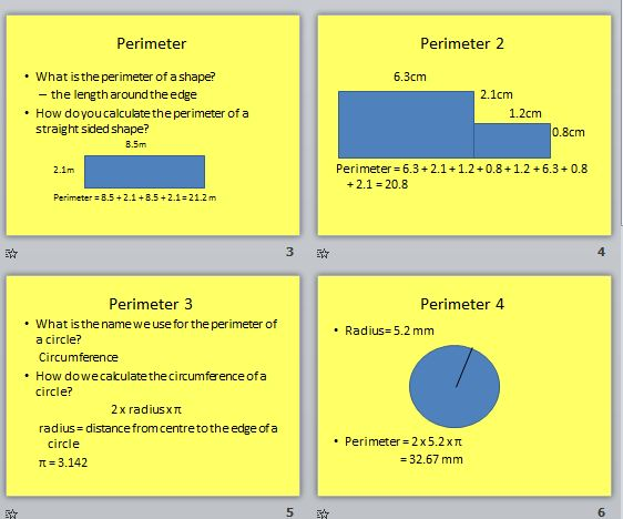 Area Perimeter And Volume For Functional Maths Skills Workshop