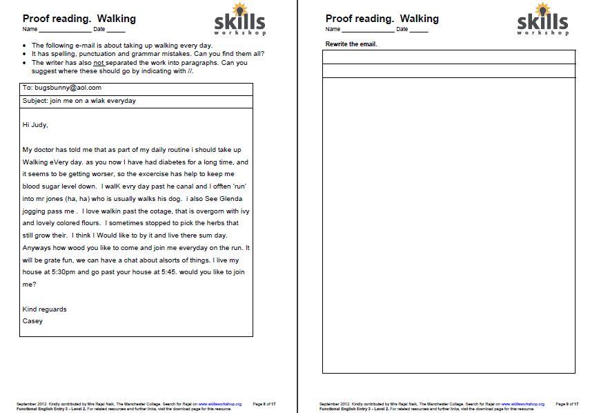 proof reading for functional english skills workshop. Black Bedroom Furniture Sets. Home Design Ideas