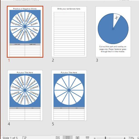 Word Wheel Template (editable) | Skills Workshop